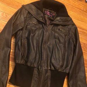 Faux leather Bomber jacket, sz S